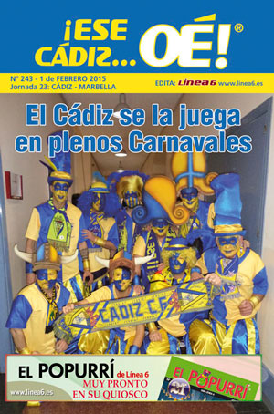 ¡Ese Cádiz…Oé! núm.243 Temporada 14/15