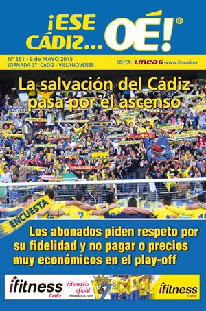 ¡Ese Cádiz…Oé! núm.251 Temporada 14/15