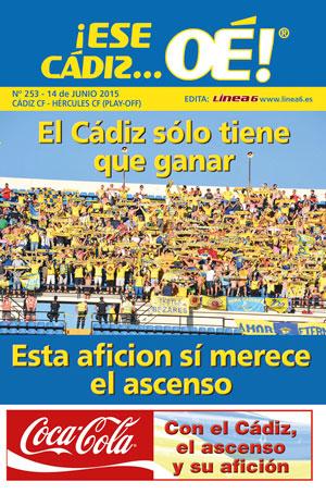 ¡Ese Cádiz…Oé! núm.253 Temporada 14/15