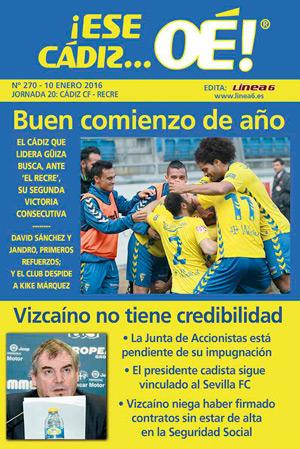¡Ese Cádiz…Oé! núm. 270 Temporada 2015/16
