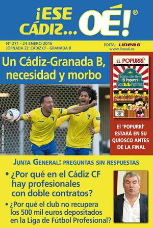 ¡Ese Cádiz…Oé! núm. 271 Temporada 2015/16