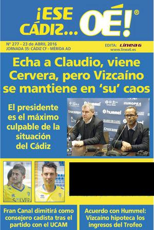 ¡Ese Cádiz…Oé! núm. 277 Temporada 2015/16