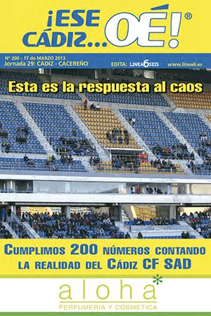 ¡Ese Cádiz…Oé! núm. 200 Temporada 2012/13