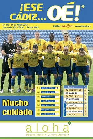 ¡Ese Cádiz…Oé! núm. 202 Temporada 2012/13