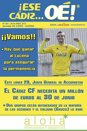 ¡Ese Cádiz…Oé! núm. 203 Temporada 2012/13