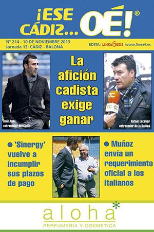 ¡Ese Cádiz…Oé! núm. 214 Temporada 2013/14