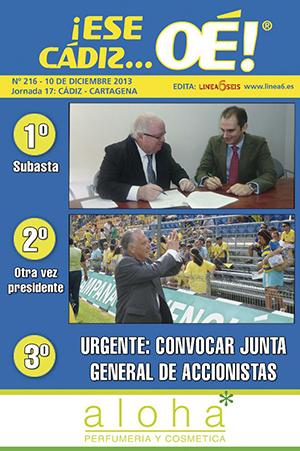 ¡Ese Cádiz…Oé! núm. 216 Temporada 2013/14