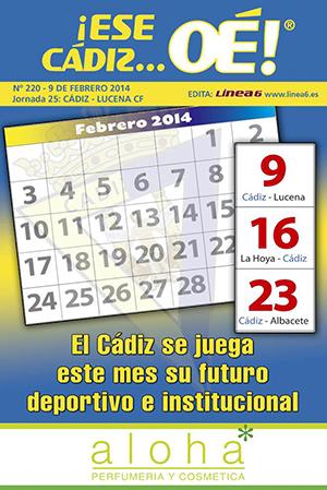 ¡Ese Cádiz…Oé! núm. 220 Temporada 2013/14