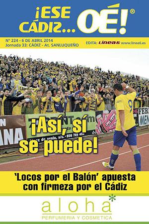 ¡Ese Cádiz…Oé! núm. 224 Temporada 2013/14