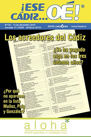 ¡Ese Cádiz…Oé! núm. 147 Temporada 2010/11