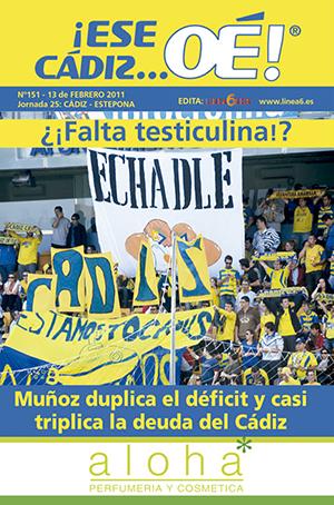 ¡Ese Cádiz…Oé! núm. 151 Temporada 2010/11