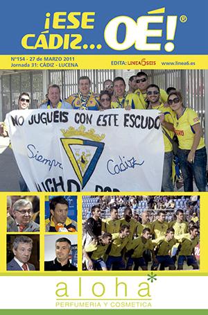 ¡Ese Cádiz…Oé! núm. 154 Temporada 2010/11