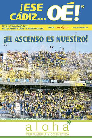 ¡Ese Cádiz…Oé! núm. 181 Temporada 2011/12