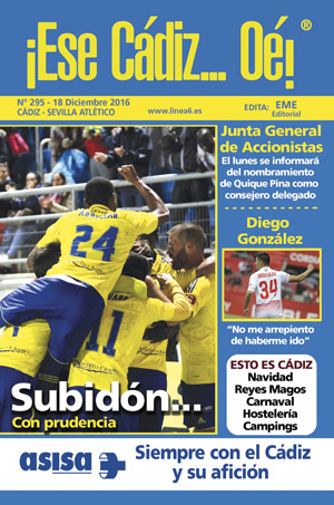 ¡Ese Cádiz…Oé! núm. 295 Temporada 2016/17