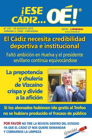 ¡Ese Cádiz…Oé! núm. 257 Temporada 2015/16