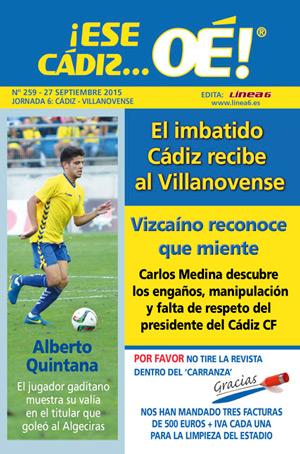 ¡Ese Cádiz…Oé! núm. 259 Temporada 2015/16
