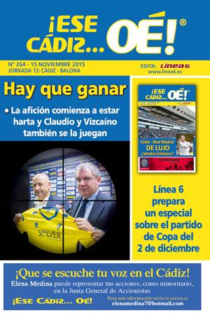 ¡Ese Cádiz…Oé! núm. 264 Temporada 2015/16