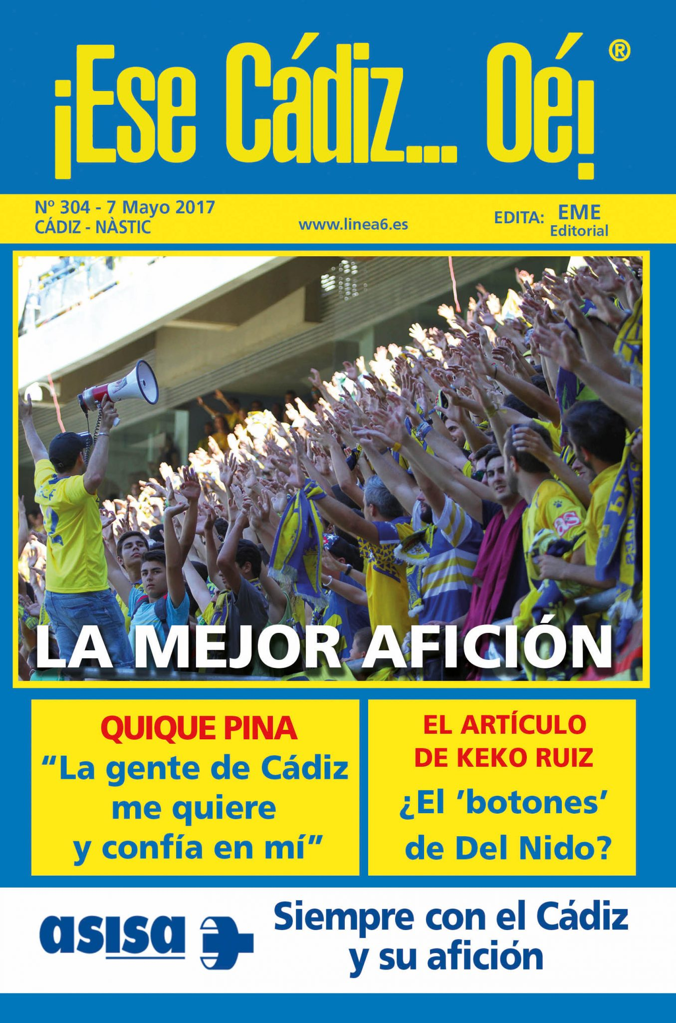 ¡Ese Cádiz…Oé! núm. 304 temporada 2016/17