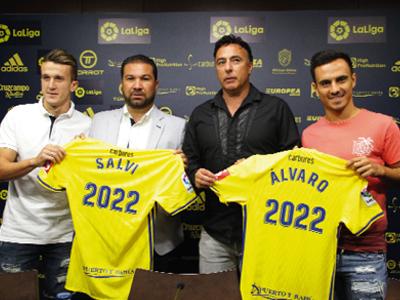 Álvaro García y Salvi piensan jugar en Primera con la camiseta cadista