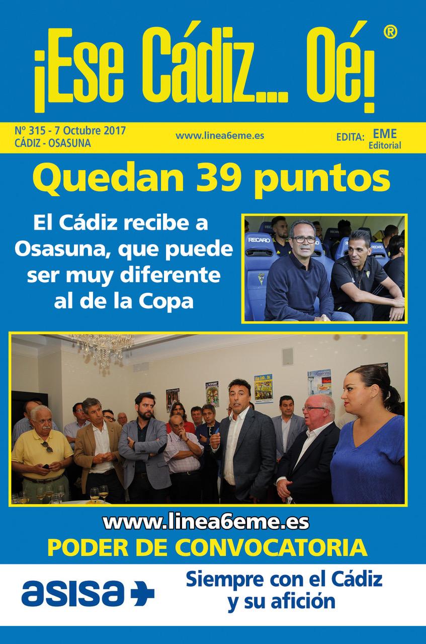 ¡Ese Cádiz…Oé! núm. 315 temporada 2017/18