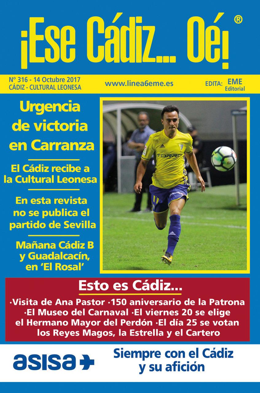 ¡Ese Cádiz…Oé! núm. 316 Temporada 2017/18