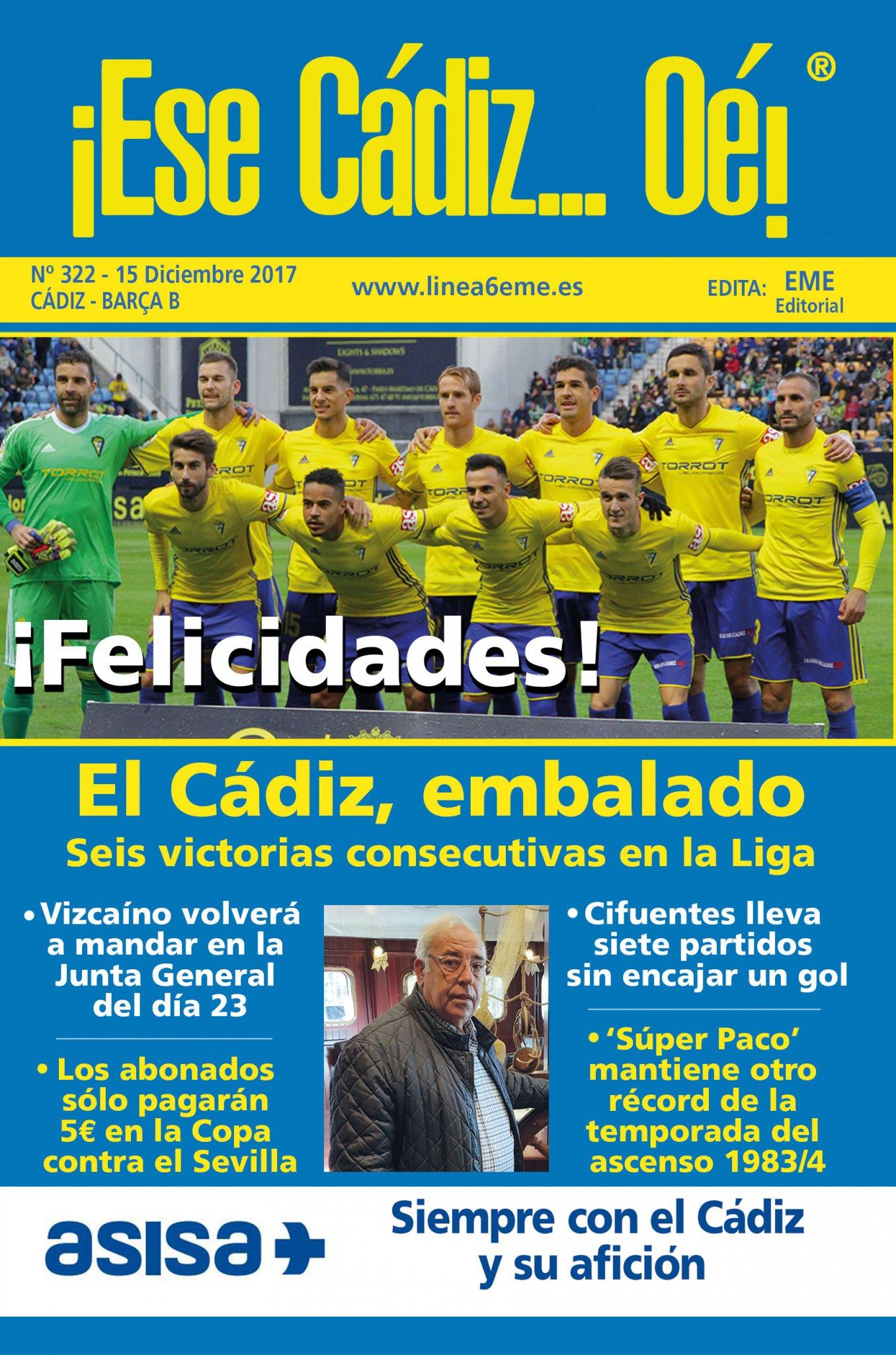 ¡Ese Cádiz…Oé! núm. 322 Temporada 2017/18