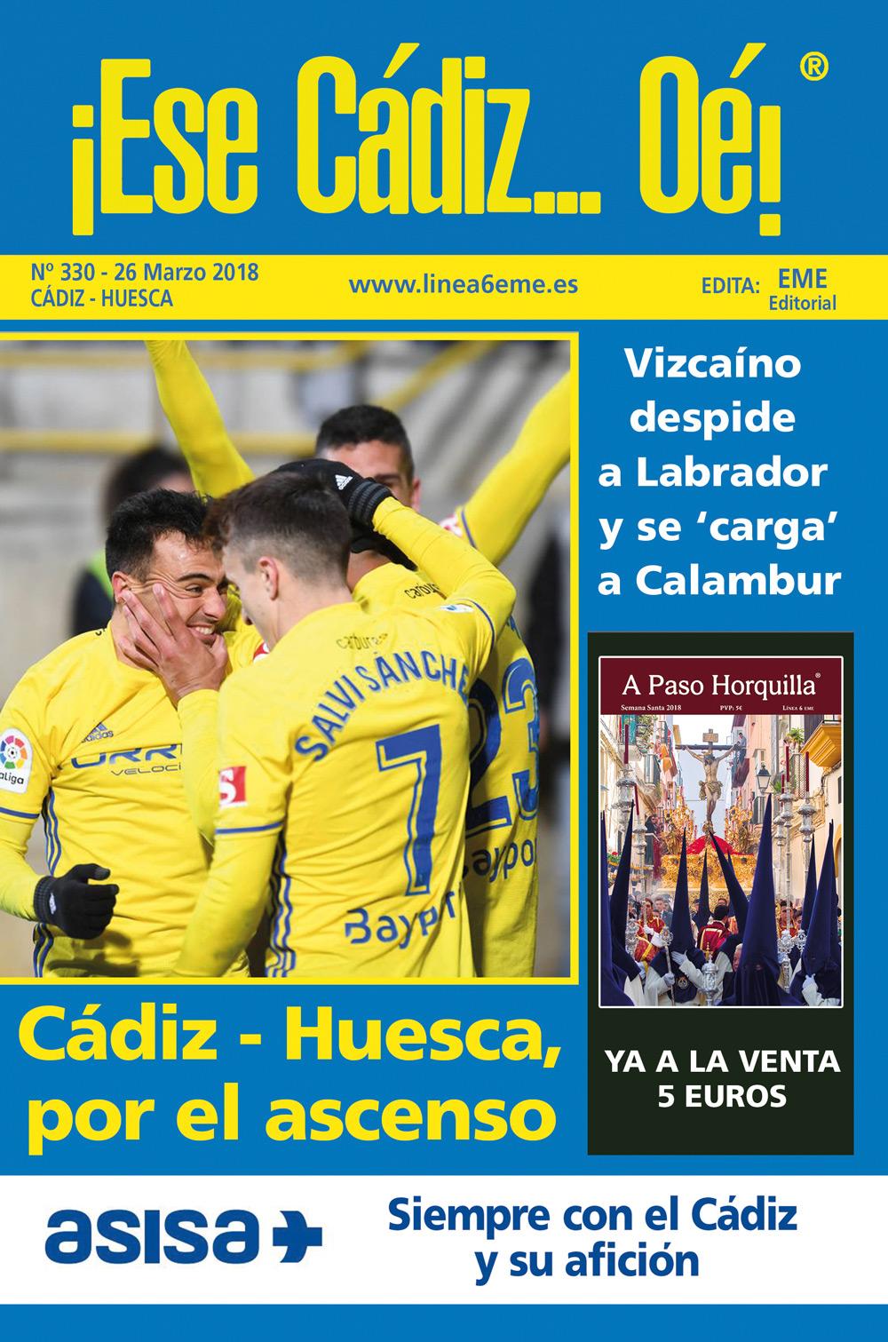 ¡Ese Cádiz…Oé! núm. 330 Temporada 2017/18