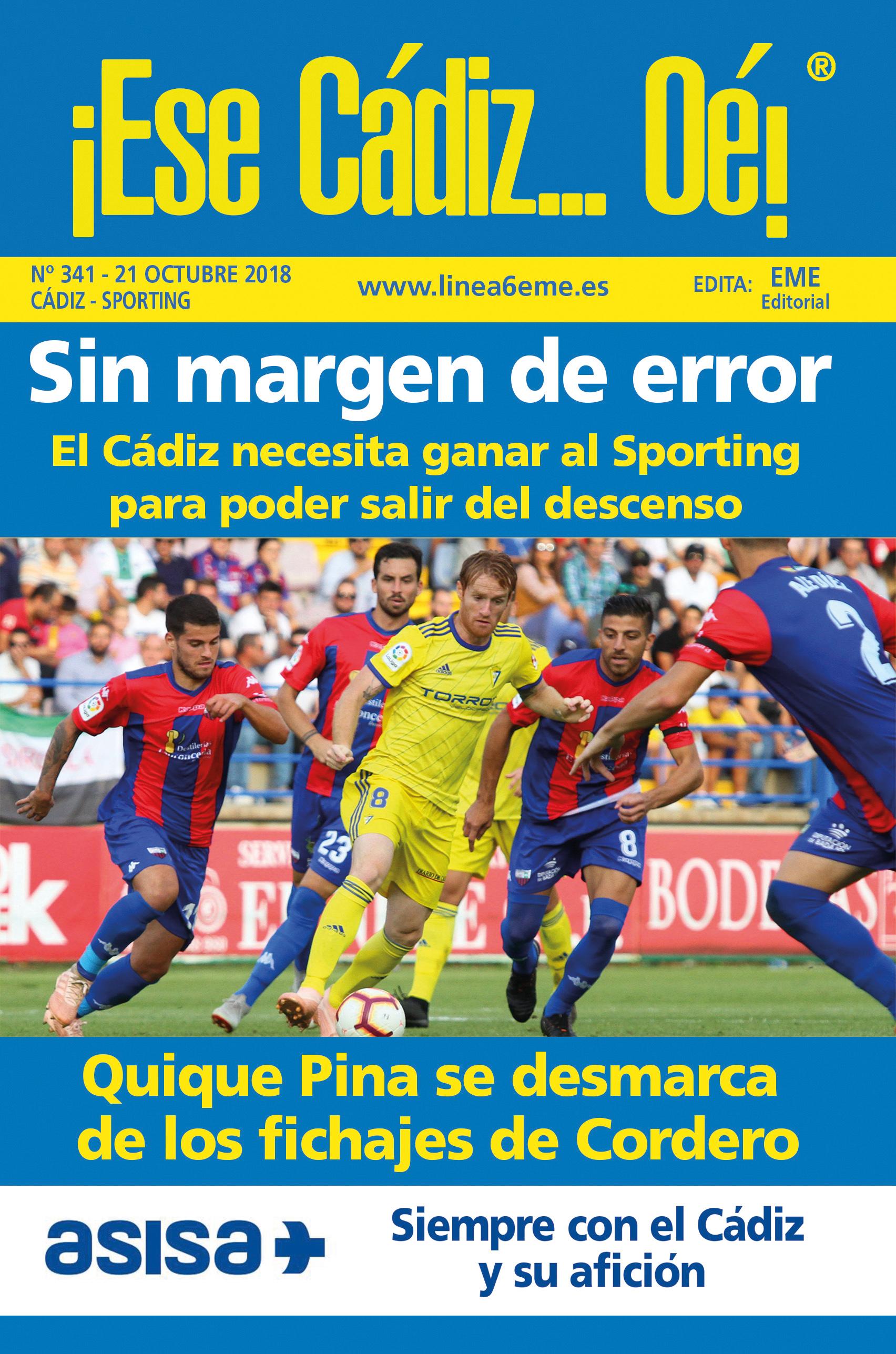 ¡Ese Cádiz…Oé! núm. 341 Temporada 2018/19