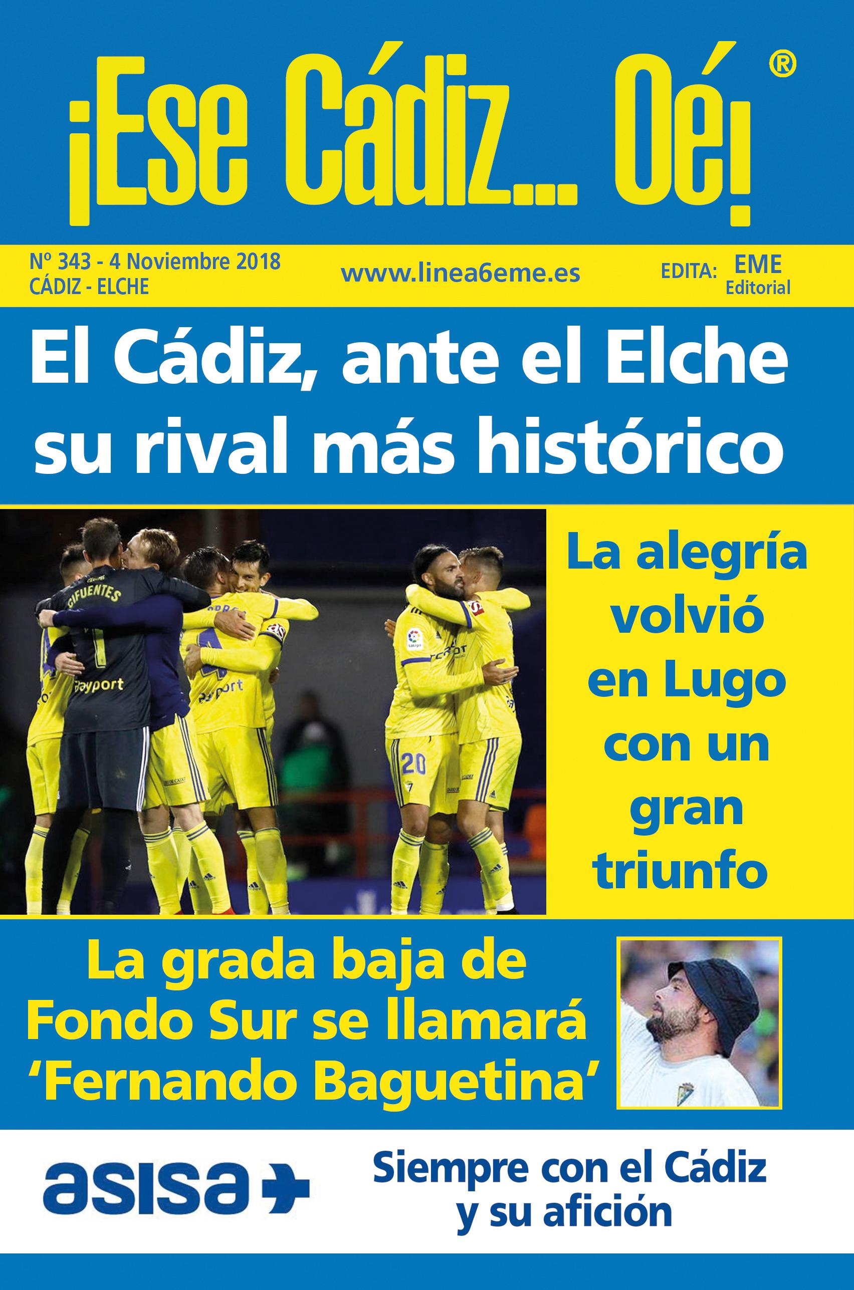 ¡Ese Cádiz…Oé! núm. 343 Temporada 2018/19