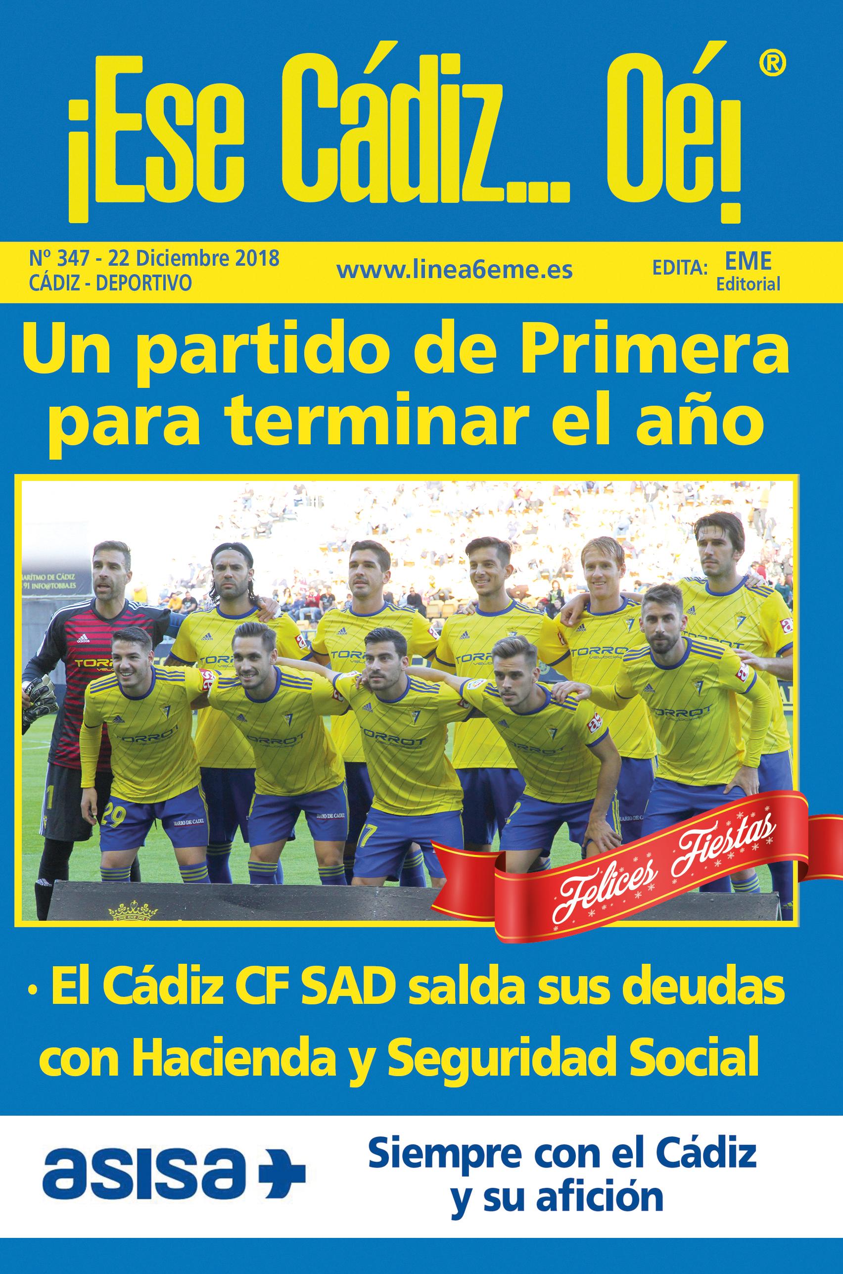 ¡Ese Cádiz…Oé! núm. 347 Temporada 2018/19