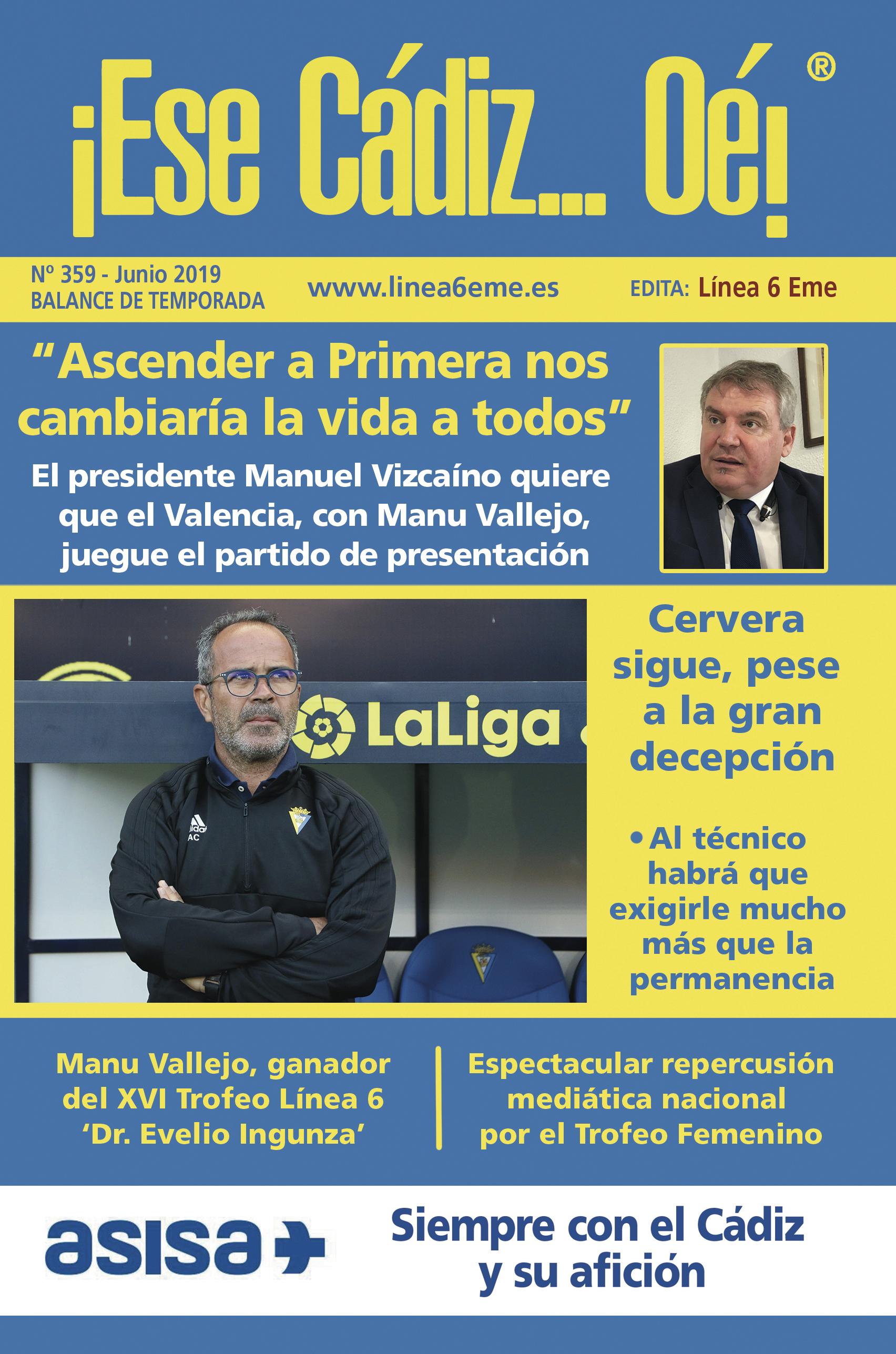 ¡Ese Cádiz…Oé! núm. 359 Temporada 2018/19