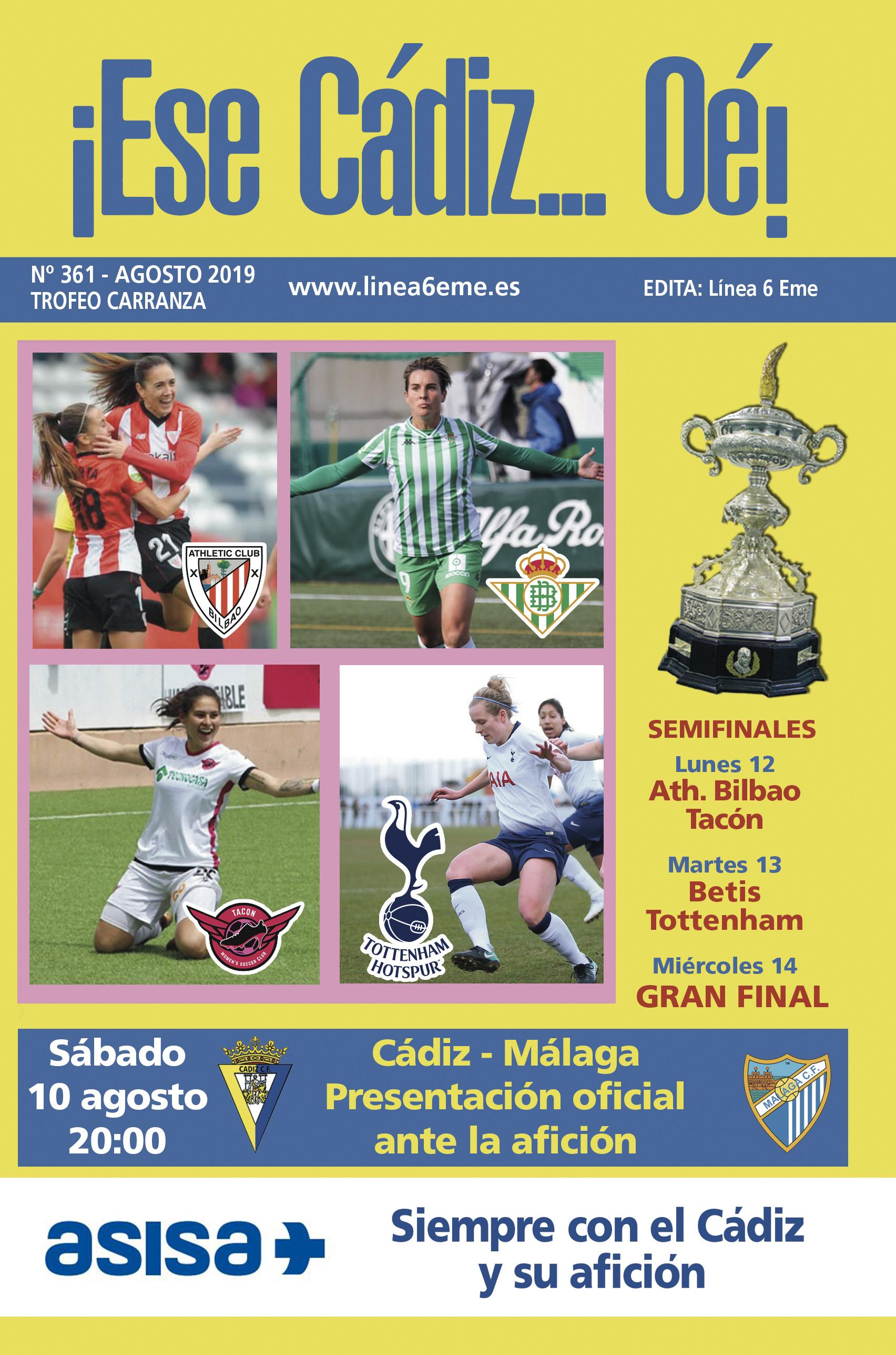 ¡Ese Cádiz…Oé! núm. 361 Trofeo Carranza