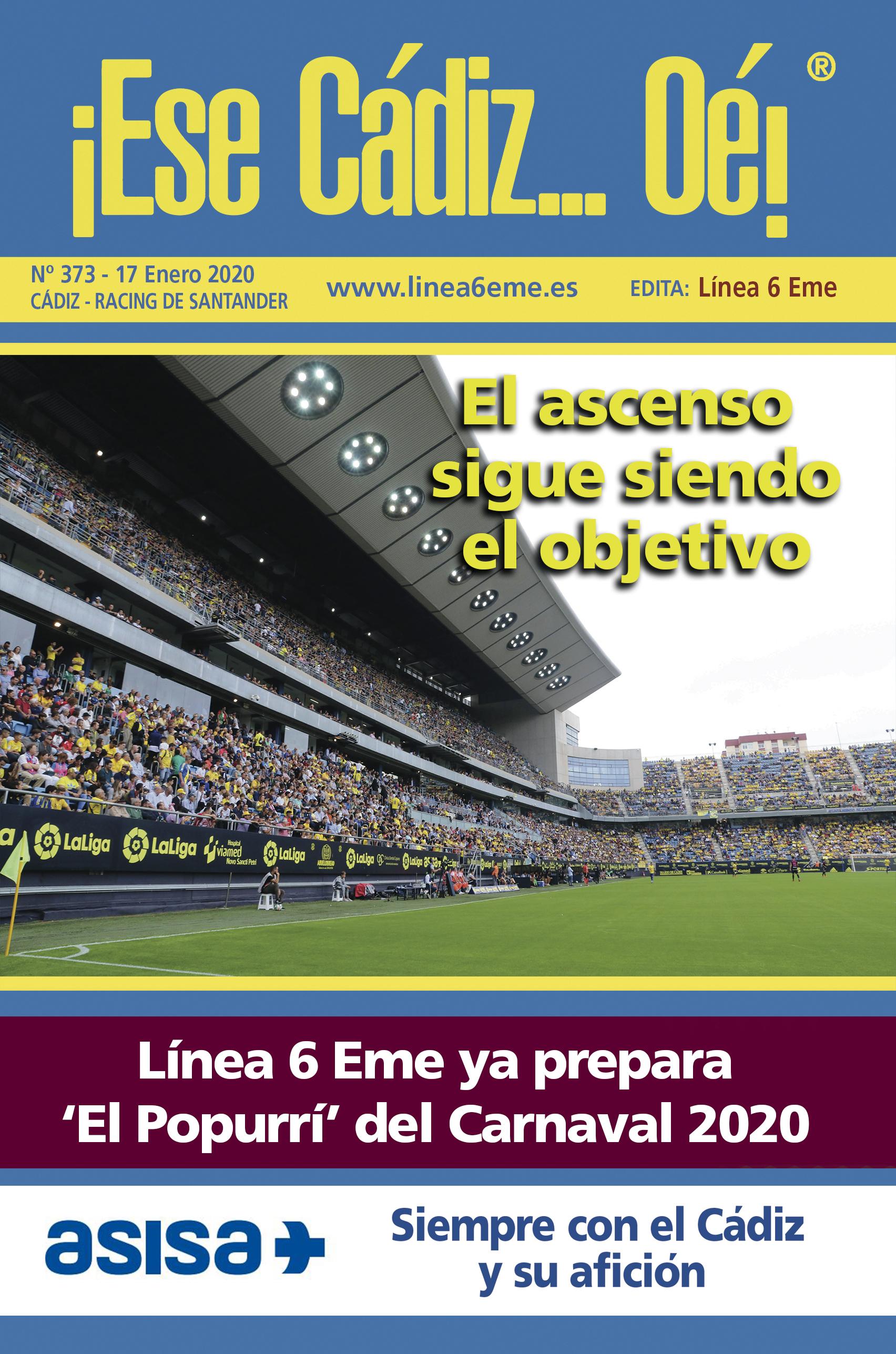 ¡Ese Cádiz…Oé! núm. 373 Temporada 2019/20