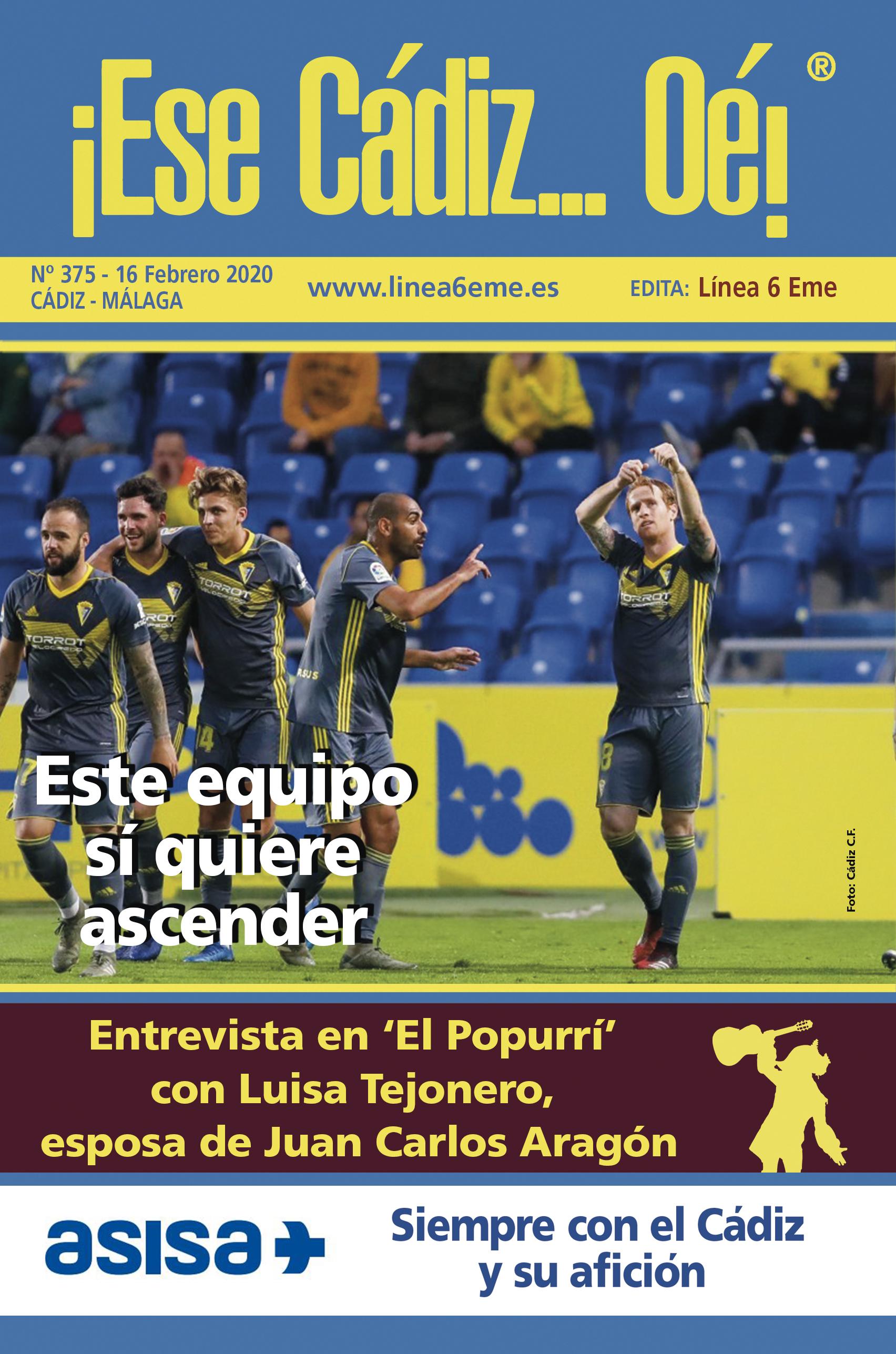 ¡Ese Cádiz…Oé! núm. 375 Temporada 2019/20