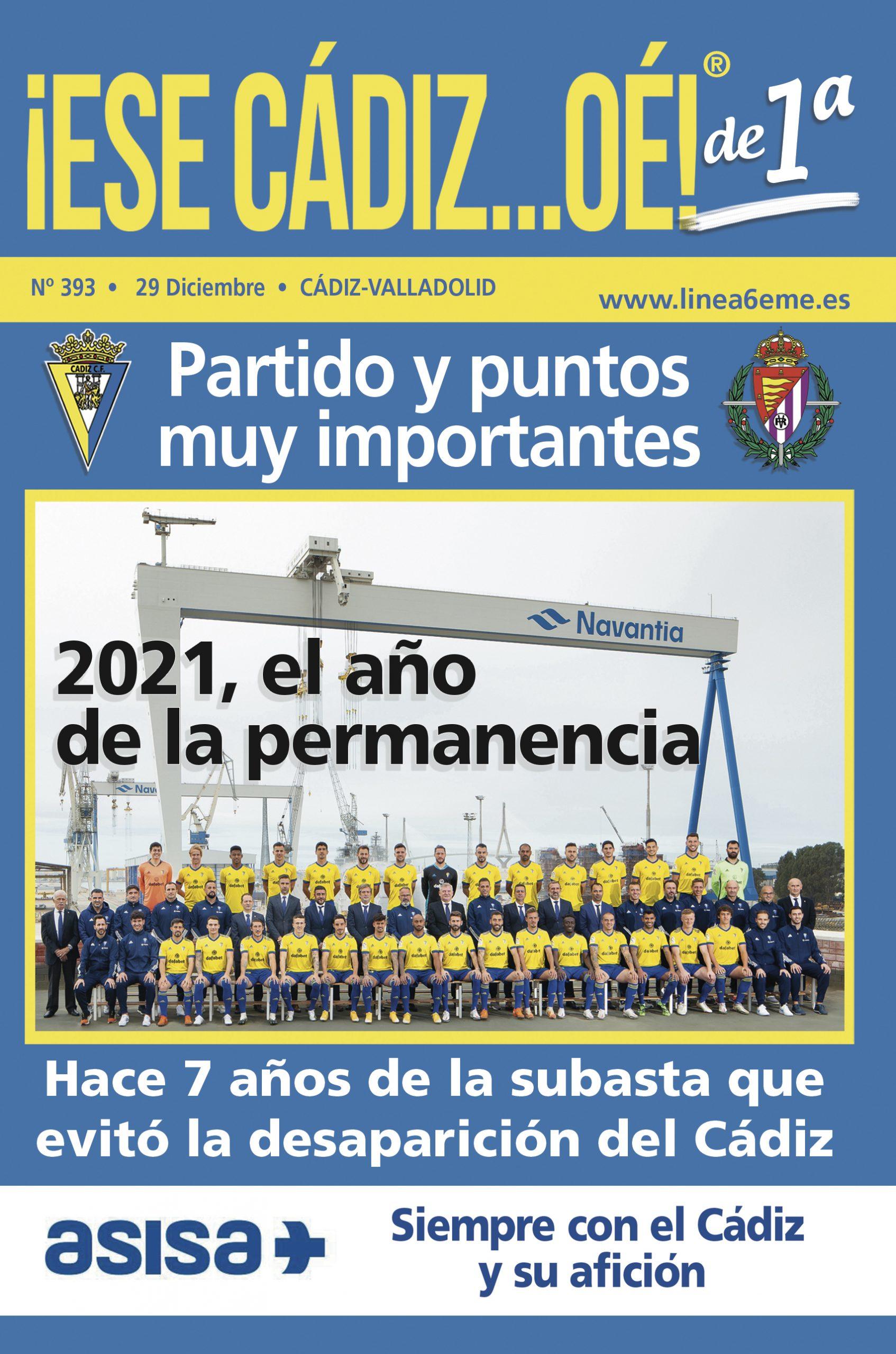 ¡ESE CÁDIZ…OÉ! NÚM. 393 TEMPORADA 2020/21